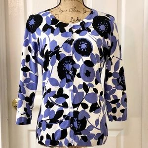 August Silk floral cardigan